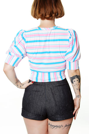 Veronica Candy Striped Crop Top - shopjessicalouise.com