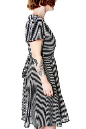 Barbara Flutter sleeve wrap dress - shopjessicalouise.com