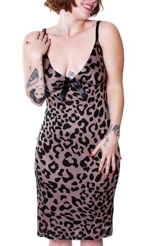 Vali Maxi Dress In Green Leopard ONE OF A KIND PC