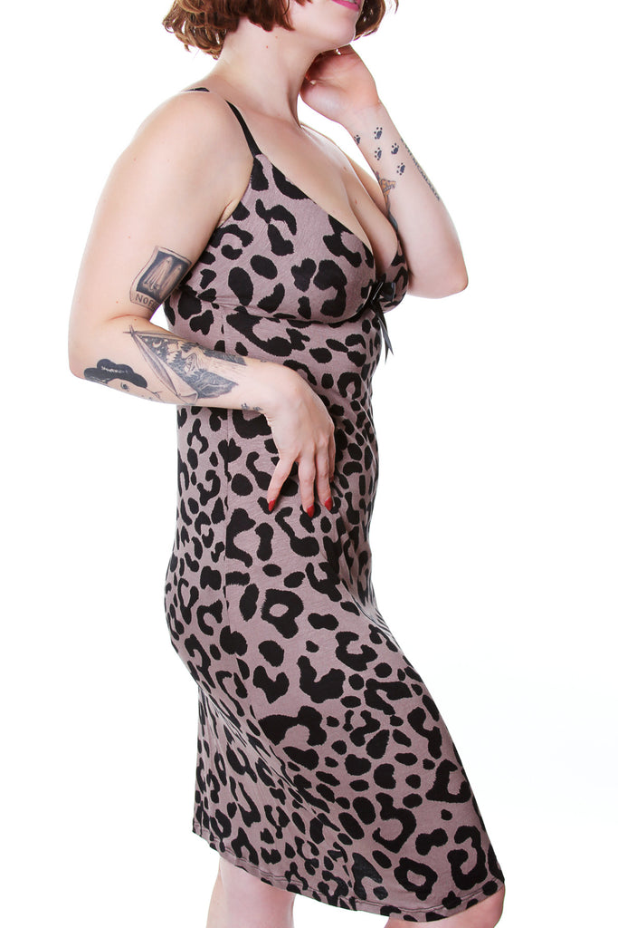 Raquel Leopard Slip Dress by Jessica Louise