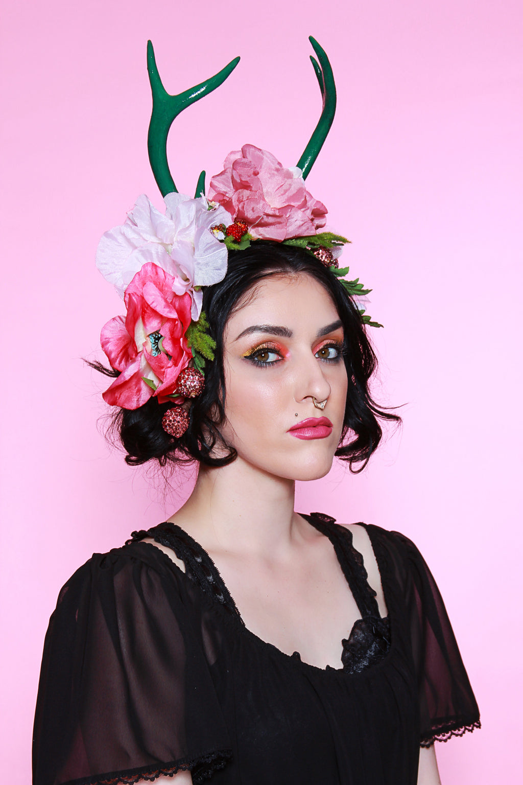 Kiss of Dawn Antler Flower Crown - shopjessicalouise.com