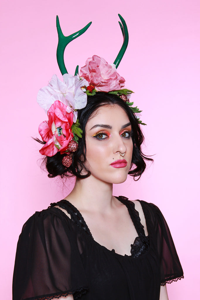 Jessica Louise Kiss of Dawn Antler flower crown