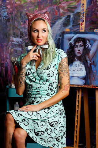 Dolly Skull Keyhole Dress