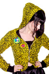 Yellow Leopard Vamp Hoodie - shopjessicalouise.com