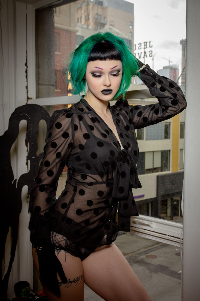 gothic girl top Jessica Louise