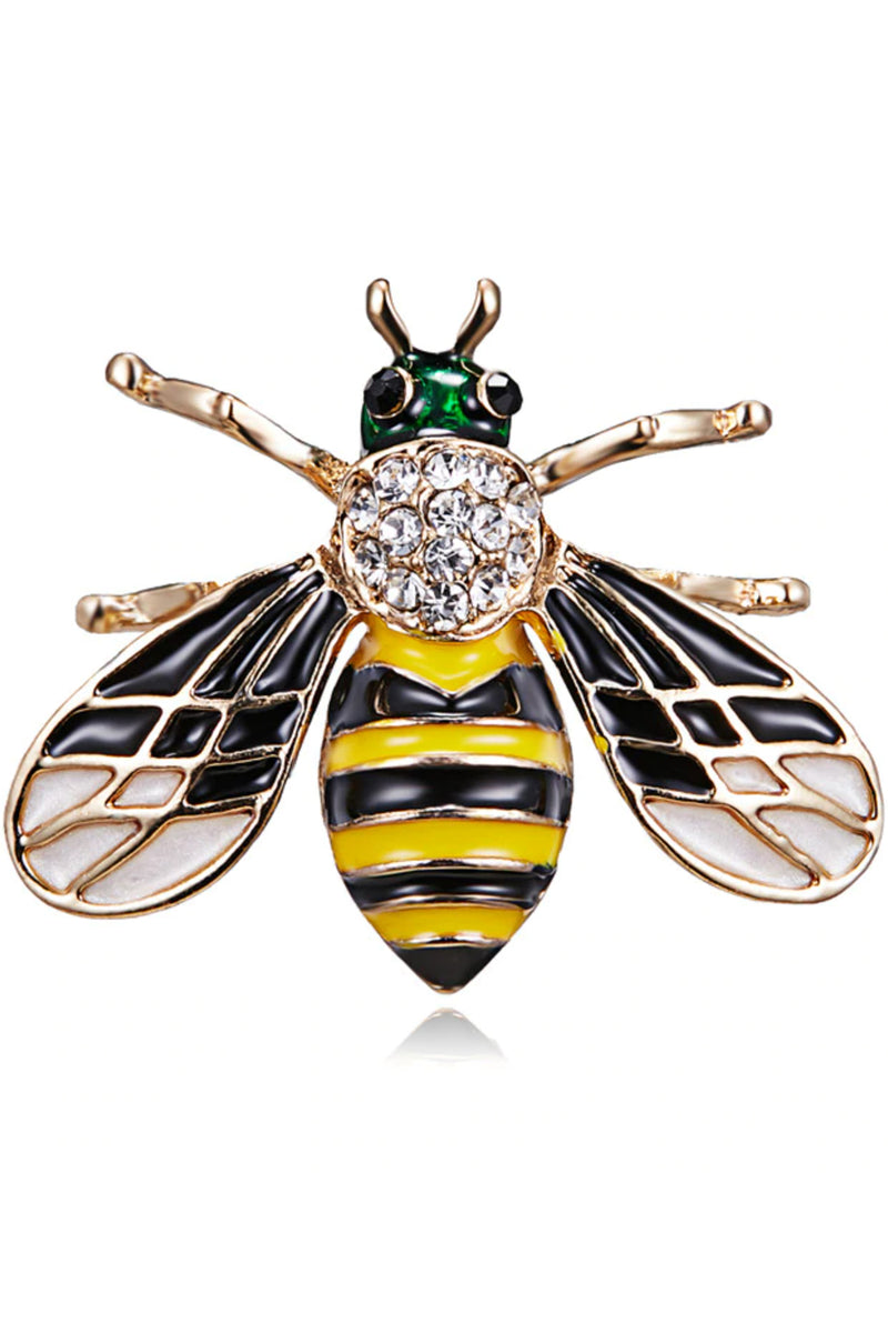 Enamel Bee Brooch