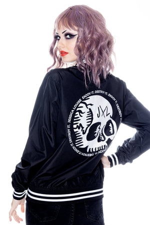 skull bomber jacket by Jessica Louise