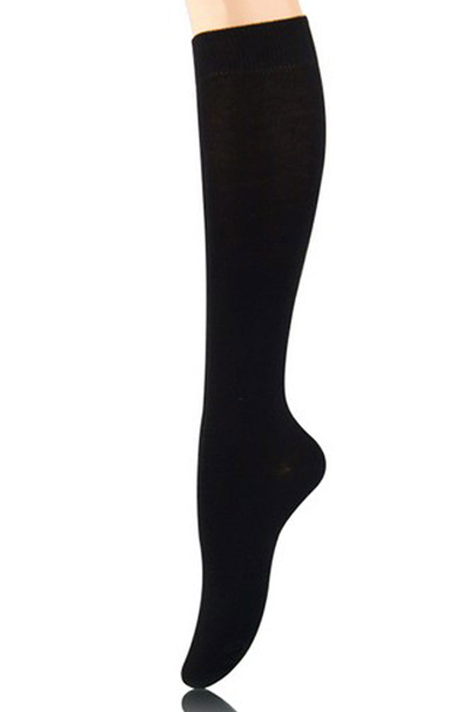 Knee High Black Socks Basics - shopjessicalouise.com