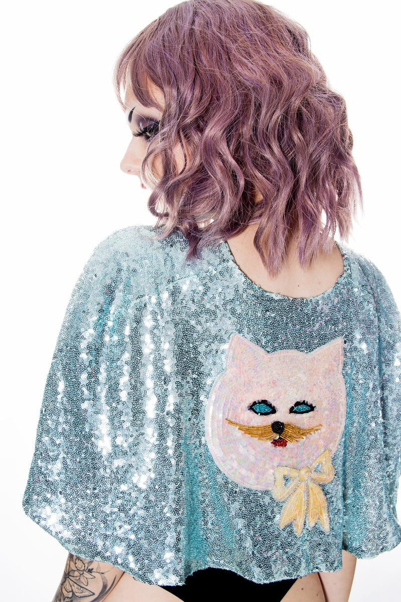 Sequin Cape Ice Mint