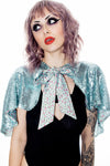 Sequin Cat Cape Ice Mint - shopjessicalouise.com