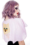 Sequin Cat Cape  Light Pink - shopjessicalouise.com