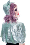 Sequin Capelet Sea Green - shopjessicalouise.com