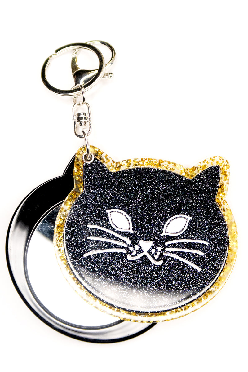 Cat Keychain Mirror