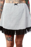 Lace & Dots Mini Slip Skirt - shopjessicalouise.com