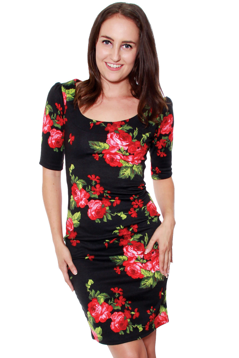 Natalia Roses Dress - shopjessicalouise.com