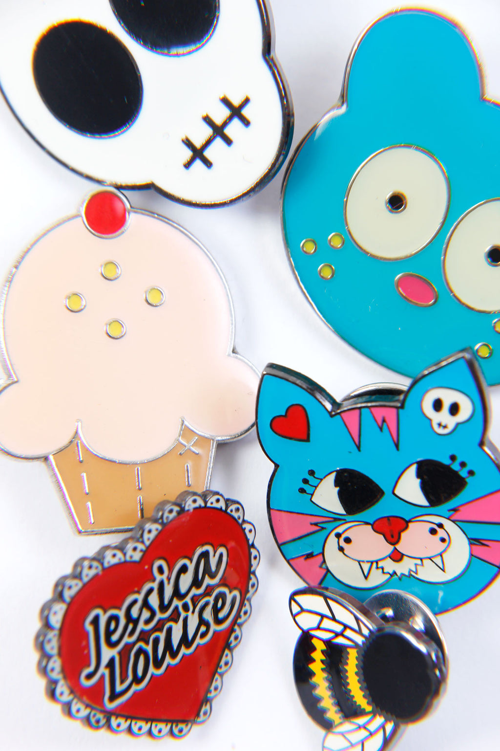 Hard Enamel Graphic Pins - shopjessicalouise.com