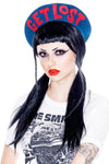 GET LOST Beret Blue red lettering Jessica Louise