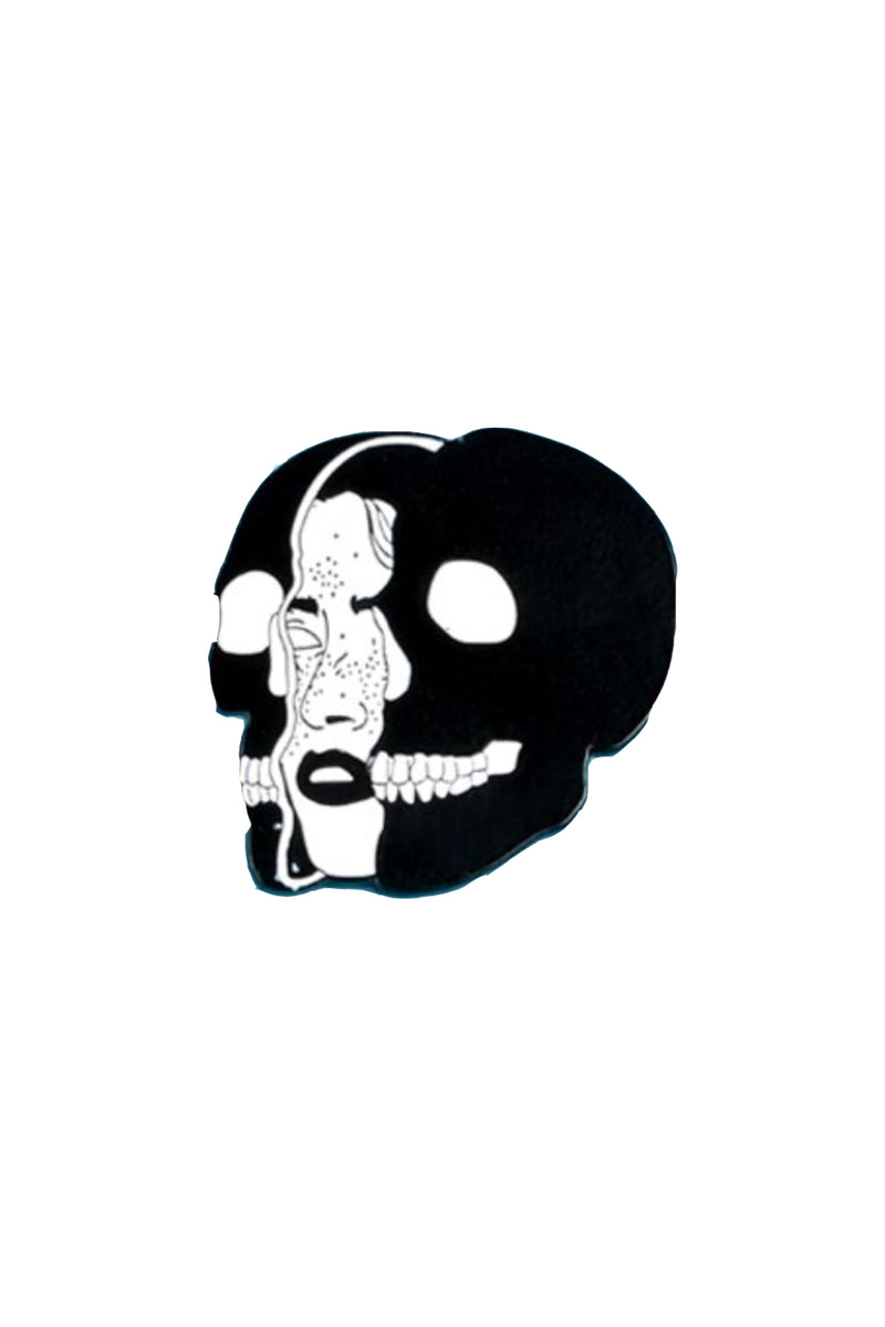 Woman Face Skull Enamel Pin
