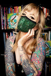 Green Sequin Face Mask - shopjessicalouise.com