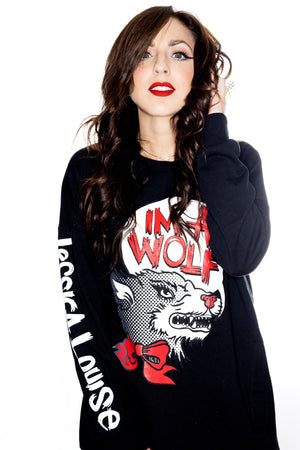 IM A WOLF- Pockets pullover - shopjessicalouise.com