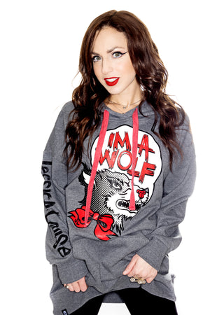IM A WOLF- Hoodie Grey - shopjessicalouise.com