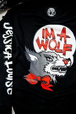 IM A WOLF- Unisex Pullover Black - shopjessicalouise.com
