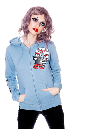 Im a wolf -blue hooded sweatshirt by Jessica Louise