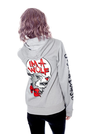 IM A WOLF - Light Grey - shopjessicalouise.com