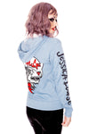 Im a wolf - blue hooded sweatshirt by Jessica Louise