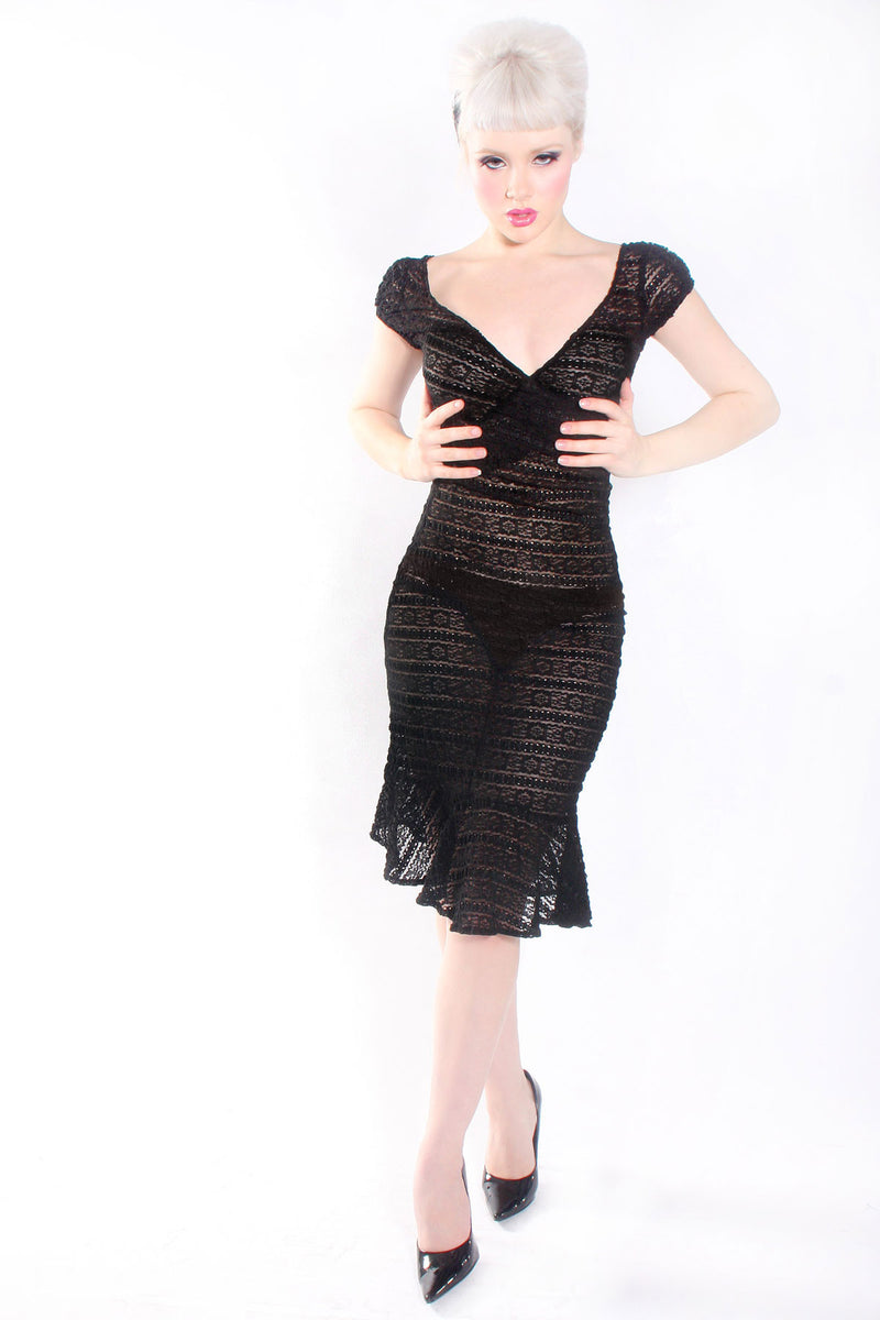 Jessica Louise Sheer Lace Date Dress - shopjessicalouise.com