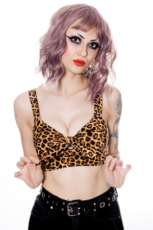 leopard crop top pinup style