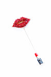 Lips Lipstick Sweater pin - shopjessicalouise.com