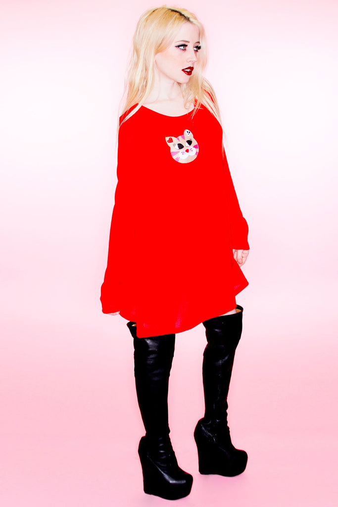 Lula Kitty Solid Pull Over - shopjessicalouise.com