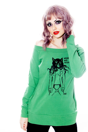 Make Me Roar- Off Shoulder Pullover - shopjessicalouise.com