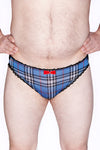 Mens Plaid Lace back Brief