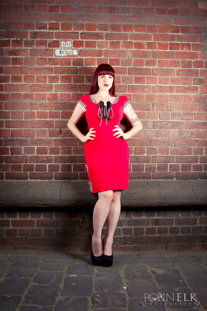 jessica louise red dress