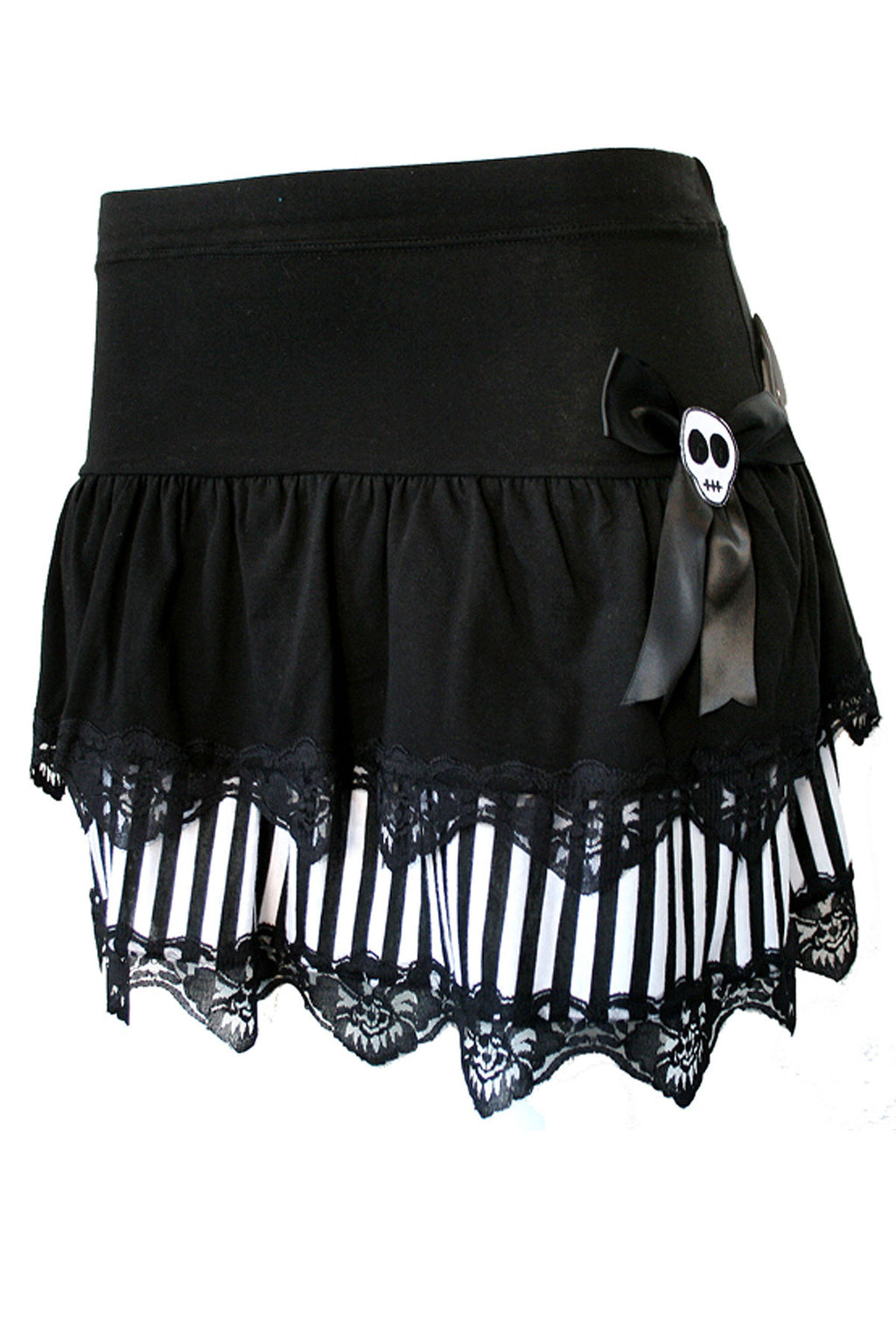Mixed Layer Skull Skirt - shopjessicalouise.com