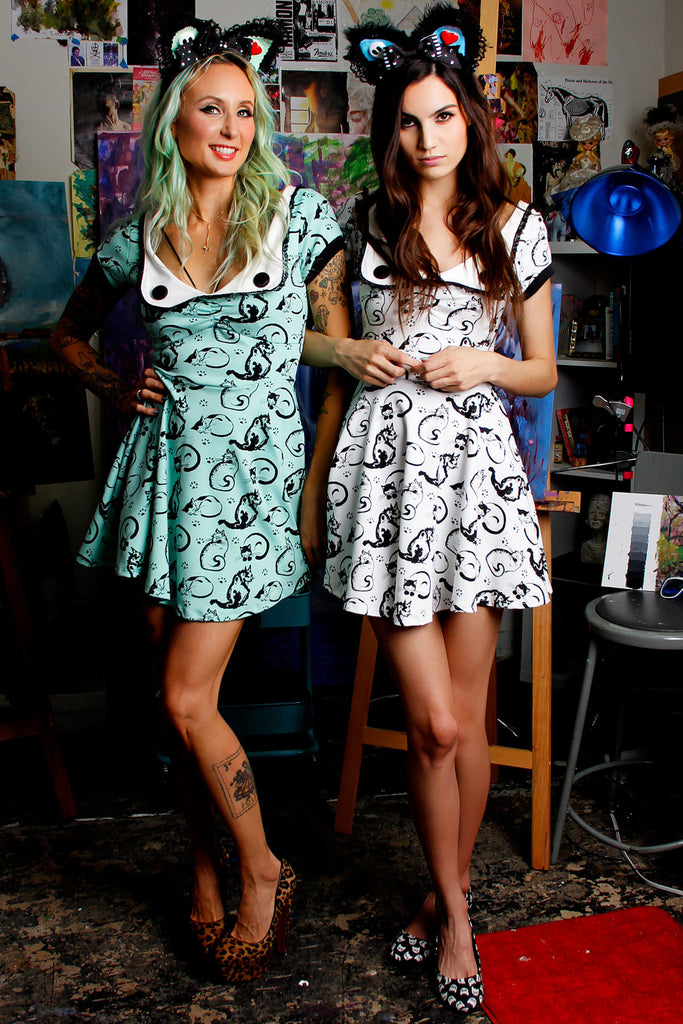 Painted Cats Dress - shopjessicalouise.com