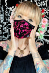 Pink flocker rose face mask- jessica louise
