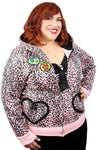 Candy Leopard Vamp Plus Hoodie - shopjessicalouise.com