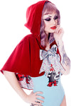 Red Velveteen Hooded Wolf Cape - shopjessicalouise.com