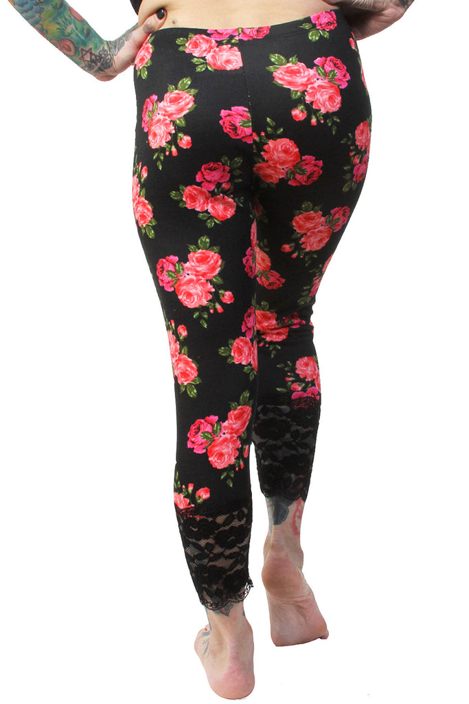 Rose Print Leggings - shopjessicalouise.com