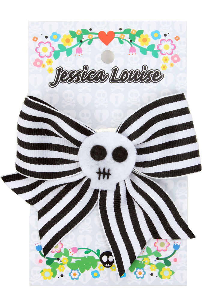 Jessica Louise Striped Skull Bow - shopjessicalouise.com