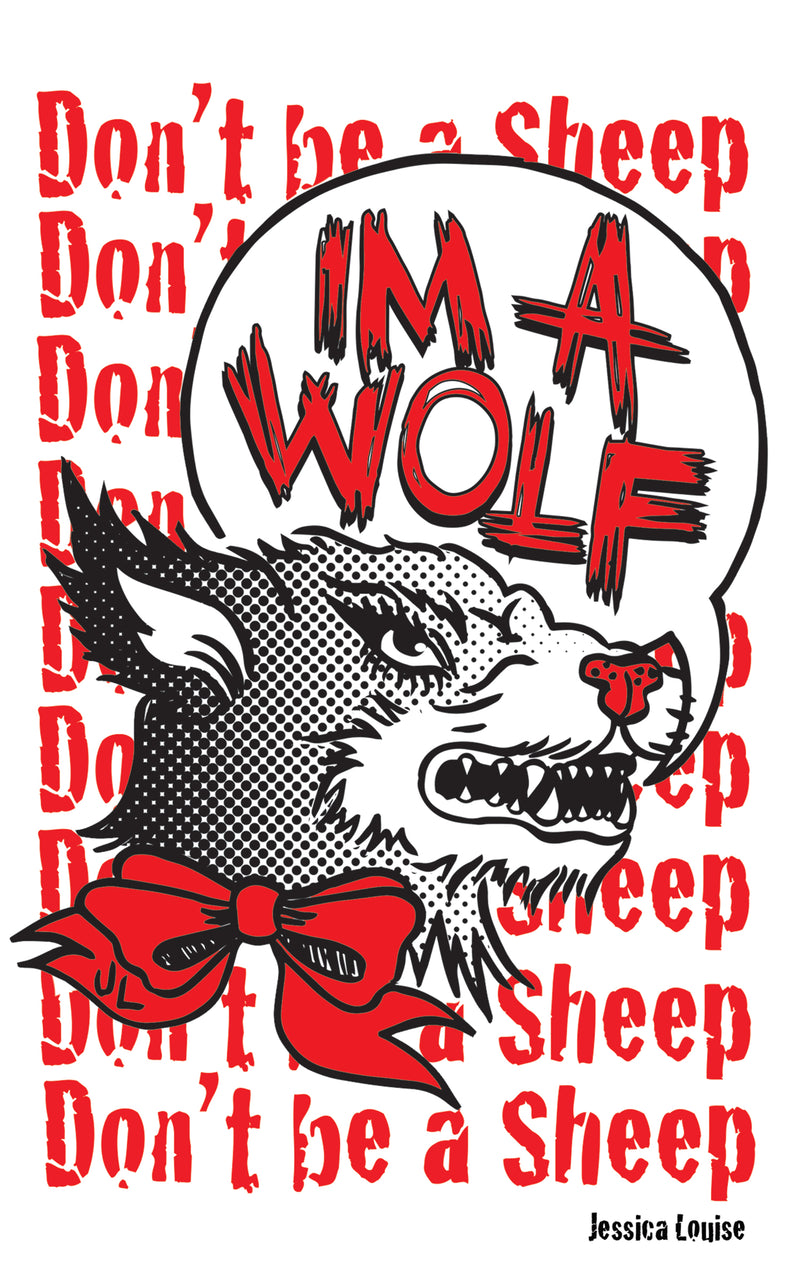 im a wolf sticker by jessica louise