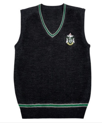 Harry Potter Sweater Vest Hufflepuff Slytherin Gryffindor Ravenclaw Cosplay