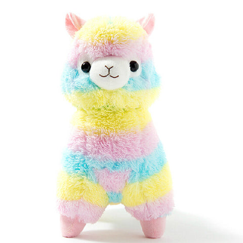 Cute! Rainbow Alpaca Stuffed Toy - Kawaii Honbu