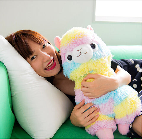 Cute! Rainbow Alpaca Stuffed Toy