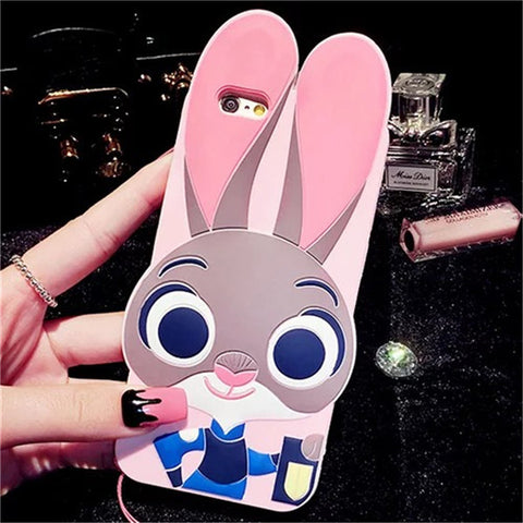 Zootopia Judy Hopps Case For iphone 5 5S 7 6 6S 7 Plus SE For Samsung Galaxy S7 Edge S6 S5