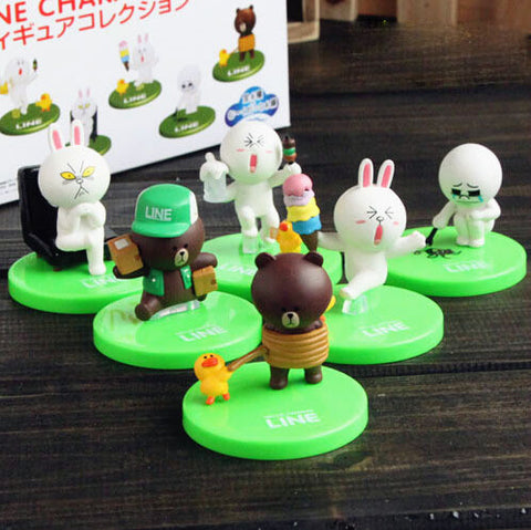 Cute Tomy Line Character Brown & Cony Mini Figure Toys