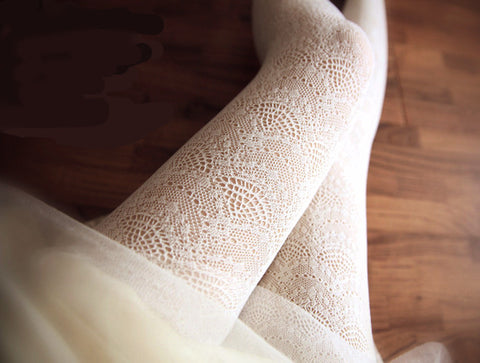 Japanese Style Sweet Lolita good quality Hollow out lace Stocking (8 colours)